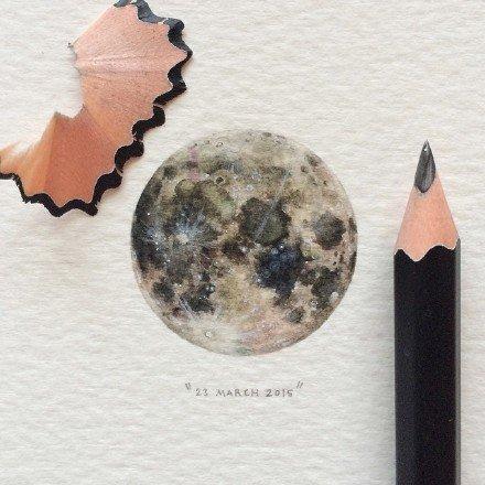 小巧精致的星空手绘插画分享,线描画