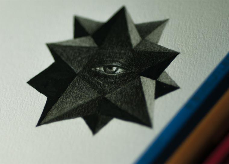 来自墨西哥:他的画如火柴般大小精致细腻,线描画